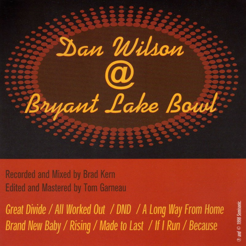 Dan Wilson Live @ Bryant Lake Bowl
