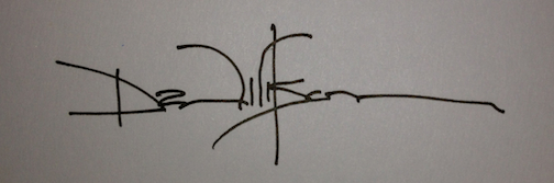 My 7th-grade signature