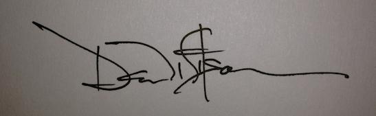 """My """"famous cartoonist signature"""""""