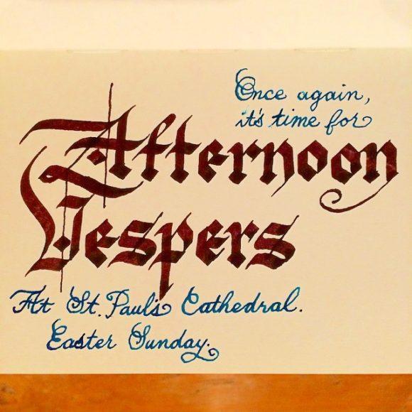 Afternoon Vespers